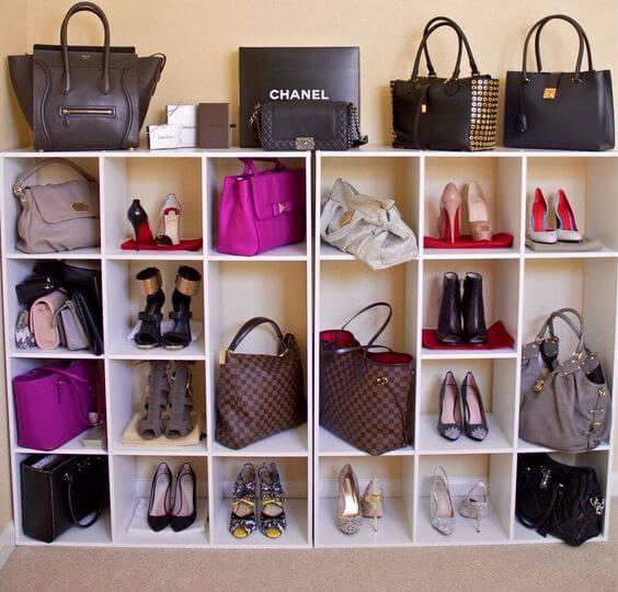 полка для сумок и обуви