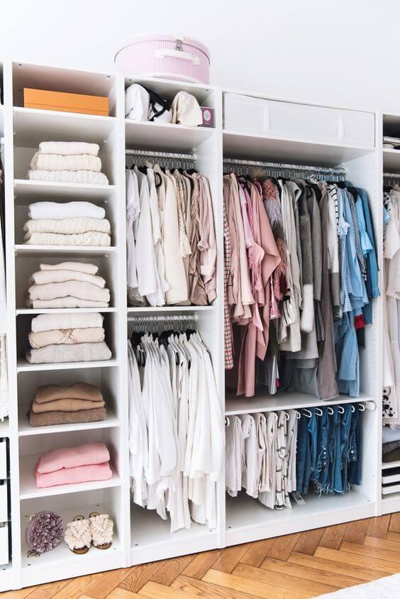 Как организовать спальню: шкаф