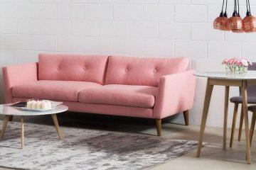 Розовый диван - тренд этого года