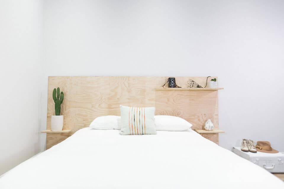 изголовье кровати из фанеры
