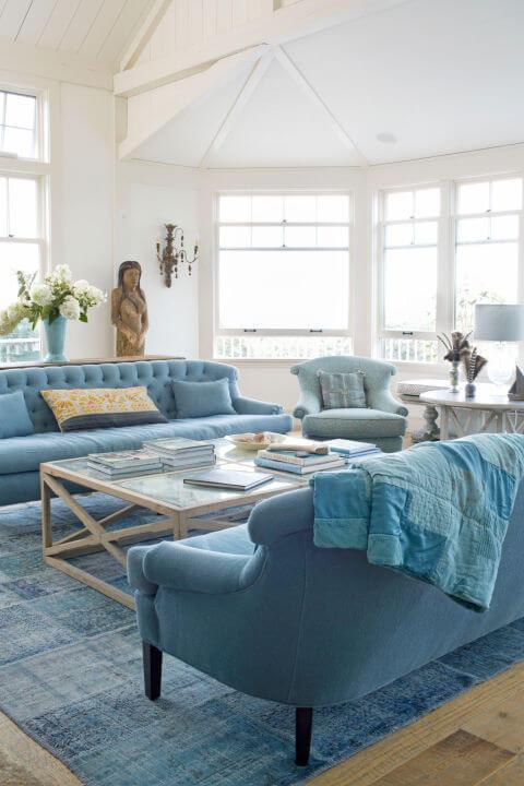 синий в интерьере дома