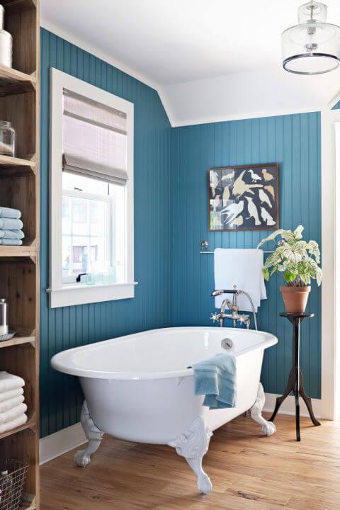 ванная синяя