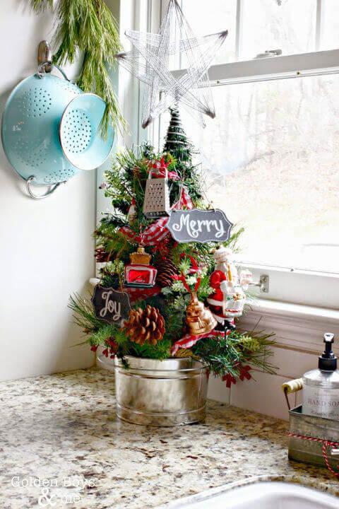 кухонная мини елка